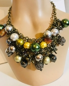 Gaudy Necklace, Big Necklace, Oversized Necklace, Large Necklace, Big Jewelry, Big Necklace, Cheap Jewelry, Cheap Elegant Jewelry, Multicolored Beads,