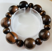 Wood Bead Bracelet, Large Wood Bead Bracelet, Bracelet Big Wood, Wood Big Bracelet, Oversized Wood Bracelet, Cheap Wood Bracelet